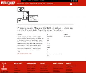 Movistar Simbiòtic Festival a Fira Tàrrega 2016