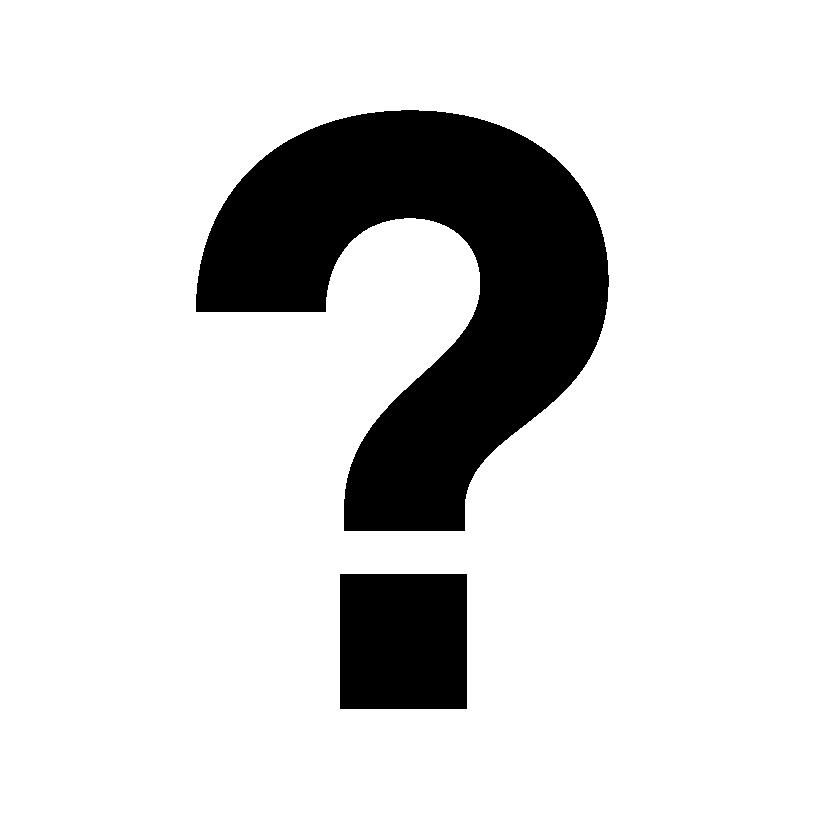 Imatge amb un interrogant negre